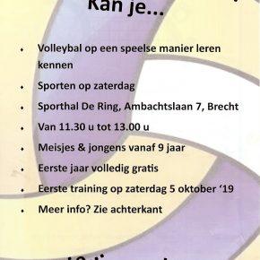 Volleyball voor de jongeren vanaf 9 Jaar.